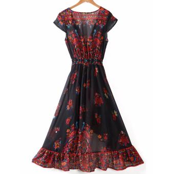 Women Summer Vintage Boho Long Maxi Evening Party Beach Dress Sundress - intl - 3