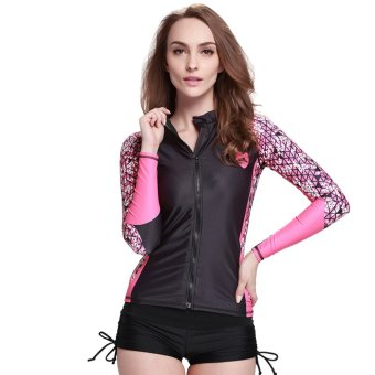 Women Surf Rash Guard Swim Shirts Long Sleeve Swimwear BathingSnorkeling Diving Shirt Wetsuit ? Digital53