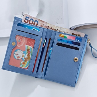 Women Wallet Pu Leather Mini Coin Purses Small Zipper Short Wallets ID Credit Card Holders Fashion Cute Girls Purse Pink - intl - 2