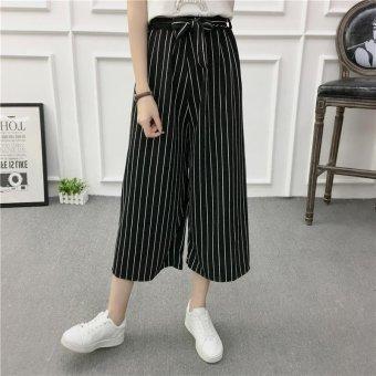 Women Wide Leg Harem Pants Female bell-bottomed Pant Elastic WaistLoose Trousers - intl - 2