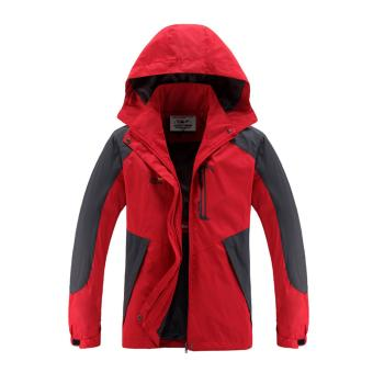 Women Windbreaker Jackets Winter Thermal Cloth Outdoor Sport CoatsCamping Hiking Jackets (Red) - intl