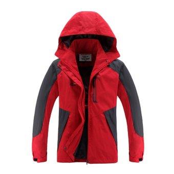 Women Windbreaker Jackets Winter Thermal Cloth Outdoor Sport CoatsCamping Hiking Jackets (Red) - intl - 2