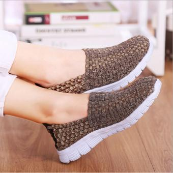 Women Woven Shoes Pure Handmade Casual Breathable Ladies SportsFlat Bottom Leisure Series