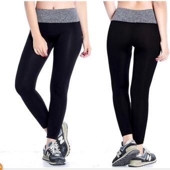 Women Yoga Running Leggings Sport Pants Fitness Sportswear Trousers- intl