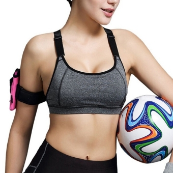 Women Yoga Sports Bra Fitness Running Gym Push Up Bra Vest Top Padded Bra
