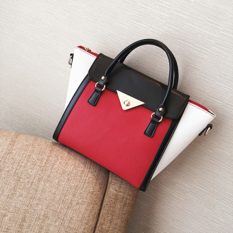 Women's Autumn Trapeze Hand Bag (Red)