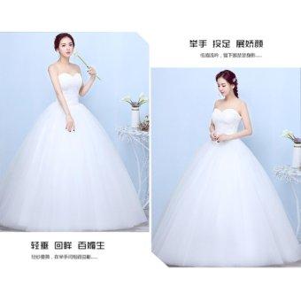 Women's Ball Gown Bridal Sweetheart Lace Wedding Dress-White - intl - 4