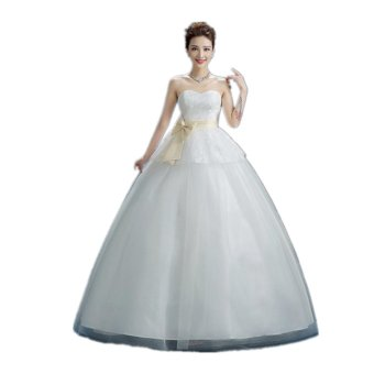 Women's Ball Gown Bridal Wedding Dresses White - intl