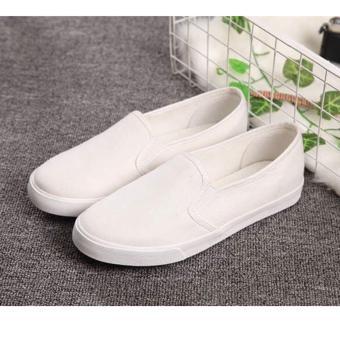 Women's Canvas Slip On Loafer - White - 3
