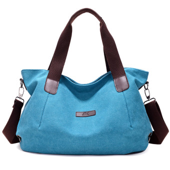 Women's European and American Casual Large Capacity Crossbody Bag (Blue)