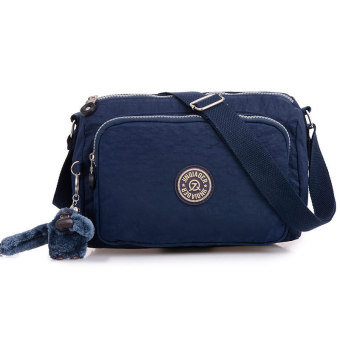 Women's Fashion Waterproof Nylon Sling Bags Lightweight Travel Shoulder Bags (Navy blue)
