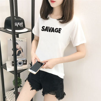 Women's Korean-style Short Sleeve T-Shirt (5134 white)