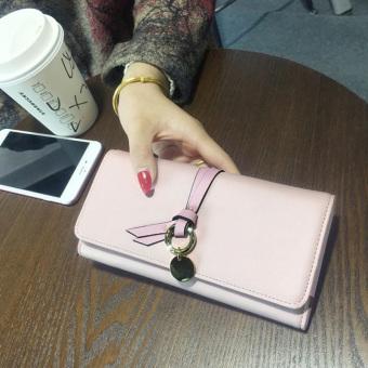 Women's Korean-style Trifold Wallet (Pink)