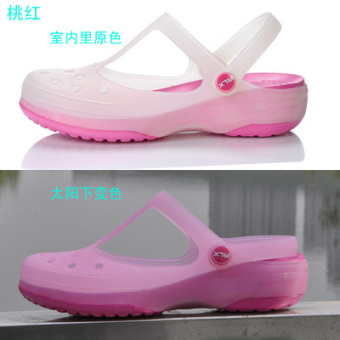 Women's Non Slip Flat Gradient Slipper (Malizhen pink color)