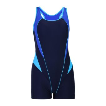 Women's One Piece Swimsuit Boyleg Athletics Swimwear Tankini - intl