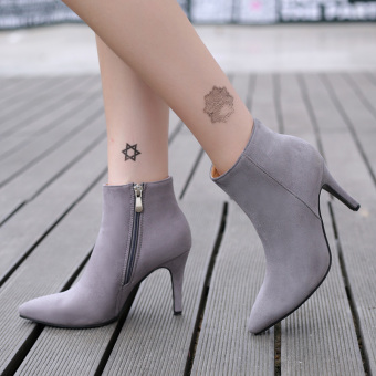 Women's Pointed Toe Stiletto Ankle Boots London Shoes Grey Price Philippines