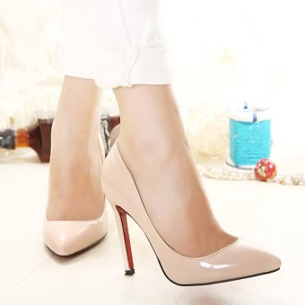 Women's Pointed Toe Stiletto Pumps Party High Heels Apricot - intl