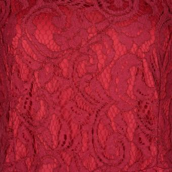 Women's Sexy Lace Long Dress Plus Size Wine Red - intl - 5