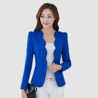 Women's Slim Business Blazer Blue - 5