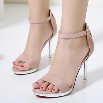 Women's Stiletto Ankle Strap Heels London Party Sandals Pink - intl