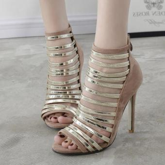 Women's Stiletto High Heels London Party Sandals Apricot - intl Price Philippines