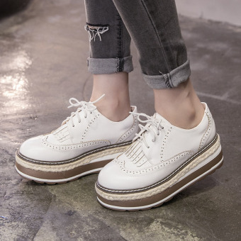 Women's Wedge Brogue Shoes London Loafers White Price Philippines