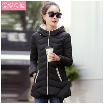 Women'S Winter Jacket Down Cotton Jacket Slim Casual Ladies Coat (Black) - intl