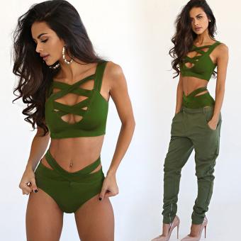 WomenBagndage Bikmini set Ary green - 4