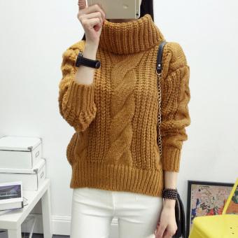 Womenenooe Cardigan Knitted Sweater Juper Outwear Coat Top (Khaki) - 3