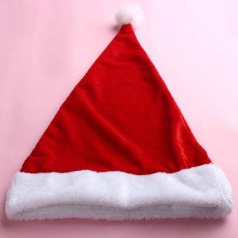 Womens Christmas Hat Caps Santa Claus Xmas Cotton Cap Christmas Gift Xmas Women Beanies Hats Cap (Intl) - picture 2
