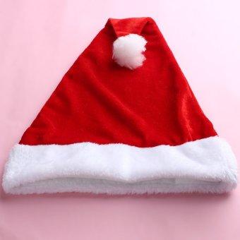 Womens Christmas Hat Caps Santa Claus Xmas Cotton Cap Christmas Gift Xmas Women Beanies Hats Cap (Intl)