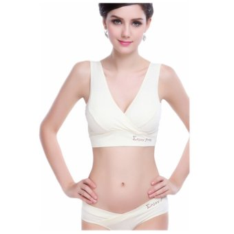 Women's Clothes Pregnant Nursing Breastfeeding Maternity BraUnderwear (Nude) - 2