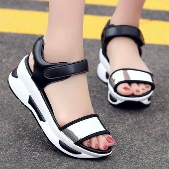 Women's Fashion Wedge Sandals Casual shoes High-heeled sandals -intl - 4