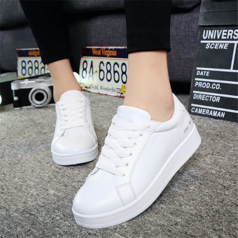 Women's Lace-up Shoes Flat Shoes Sneaker (White)(Intl)