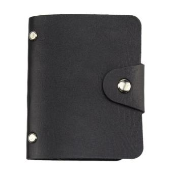 Womens Mens 24 Pouch Card Holder(Black)