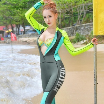 Women's Rash Guards Swimming Suit For Surf Wear Windsurf SwimwearLong Sleeve Water Sports - intl