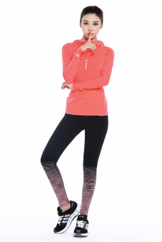 Women's Sports Pants Gradient Color Legging ( Orange) - Intl - 5