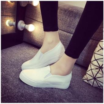 Women's Summer Casual Slip On Loafers - White