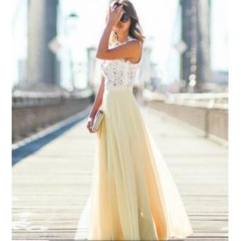 Womens Vintage Chiffon Formal Prom Party Evening Gown WeddingBridesmaid Dress(Beige) - intl - 2