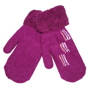 Women's Warm Winter Gloves Mittens Purple - Intl