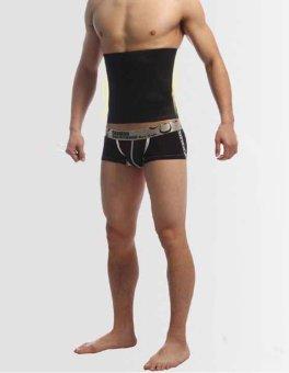 WONDERSHOP Stylish Men Shapewear Fat Slim Belt Tummy Cincher Corset Stomach Body Shapers ( Black ) - intl - 3