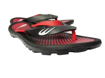 World Balance Men'S Rubber Flipflops #Marco (Red)