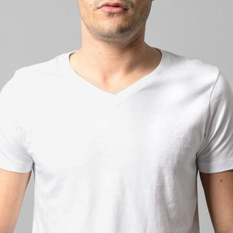 Wrangler Men's Muscle Shirt (White) - Pack of 3 - 5