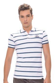 ... Wrangler Men's Striped Polo Shirt (White) ...