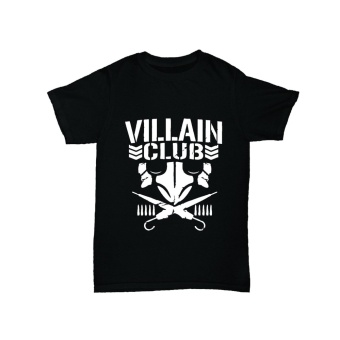 WRESTLING T SHIRT VILLAIN CLUB BLACK