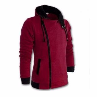 XH Fashion Casual Sportswear Jackets for Men Wine Red - intl