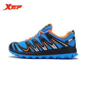 XTEP Brand 2016 New Summer Men's Running Shoes Cross-Country Trail Shoes Air Mesh Sneakers Comfortable Sports Shoes (Blue/Black) - 4