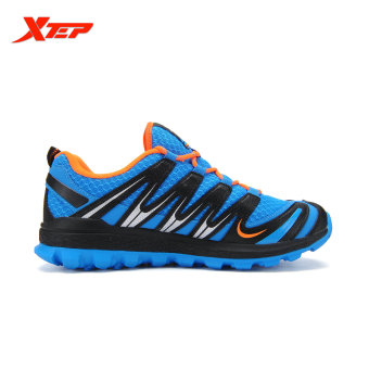 XTEP Brand 2016 New Summer Men's Running Shoes Cross-Country Trail Shoes Air Mesh Sneakers Comfortable Sports Shoes (Blue/Black) - 2