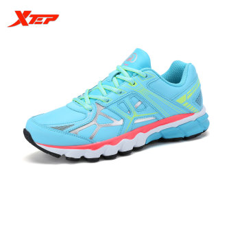 XTEP Brand Profession Light Running Shoes for Women Damping Athletic Sneakers Sports Run Shoes Trainers Men's Shoes (Sky Blue)