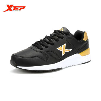 XTEP Brand Runing Shoes for Men 2016 Mens Sneakers Athletic Shoes Man Sports Shoes Trail Running Runner Shoes (Black/Gold) - intl